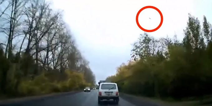UFO Caused the Car Accident in Izhevsk, Russia