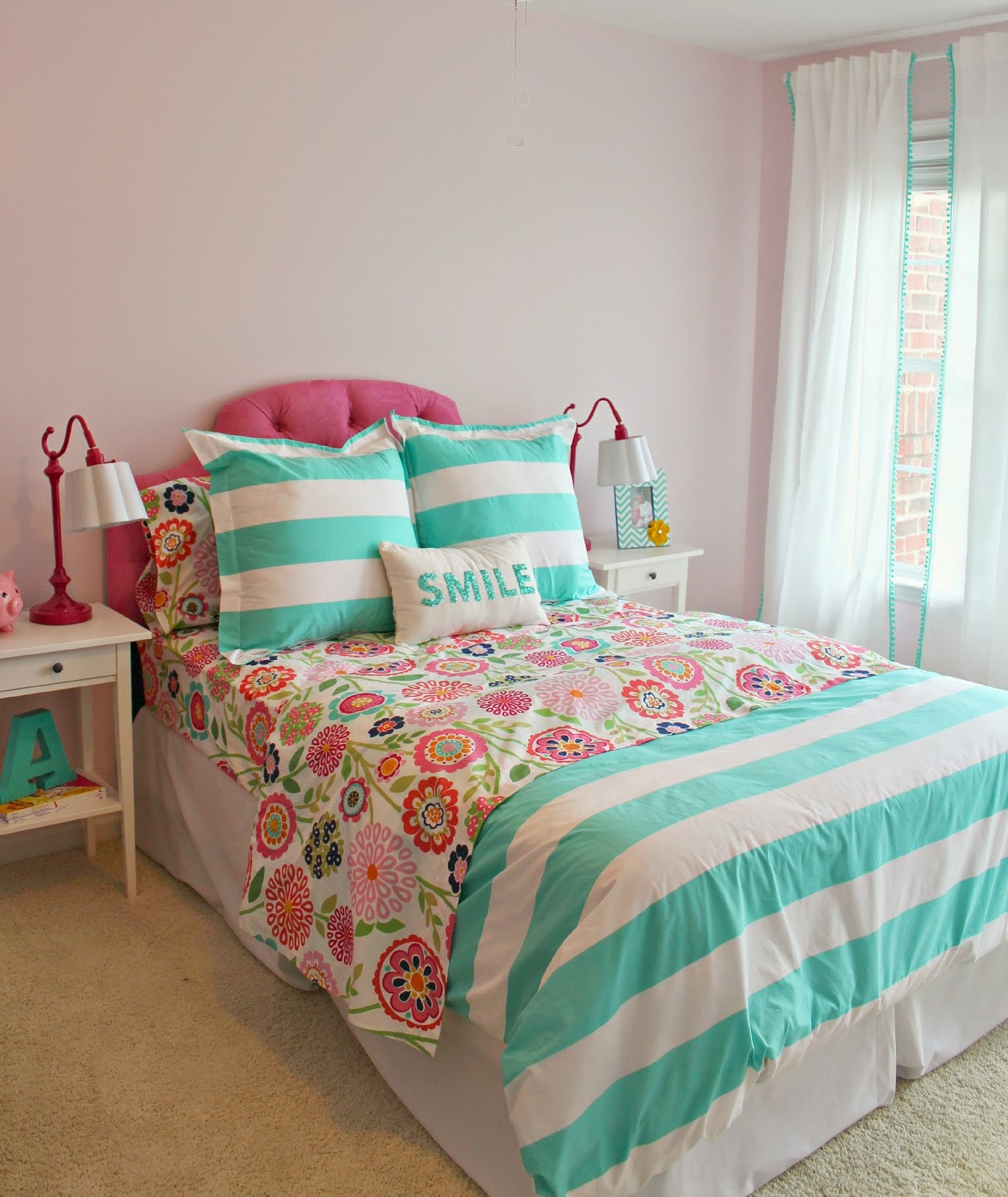 Pom Pom Bedding Carolina On My Mind Hadley 39s Nursery Big Girl Bedroom