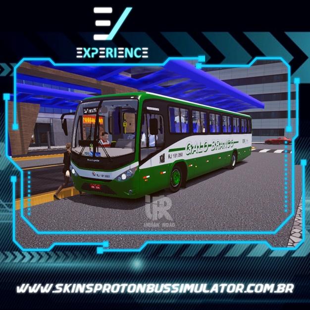 Skin Proton Bus Simulator - Marcopolo Ideale 770 MB OF-1721 BT5 Viação Galo Branco