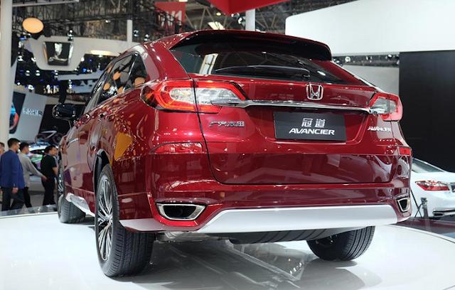 Tampak Belakang Honda Avancier - SUV Honda Terbaru Diatas CR-V