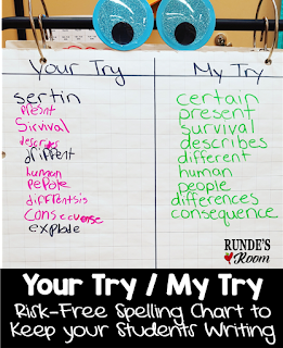 Your Try / My Try Spelling Chart