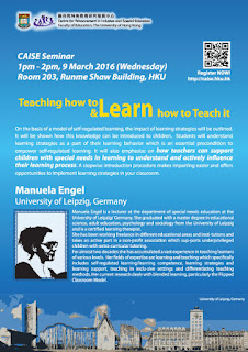 CAISE Seminar: Teaching how to Learn and Learn how to Teach it