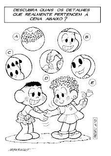 Desenhos Para Colorir E Imprimir Passatempos Turma Da Monica