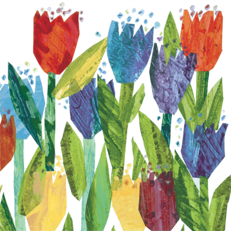 Eric carle illustrations technique
