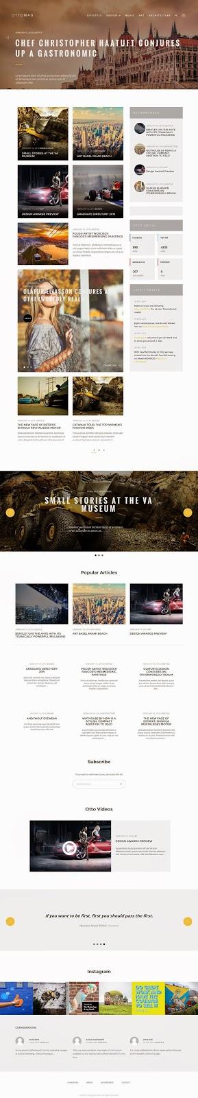 Responsive WordPress Magazine Blog Theme