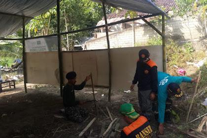 Banser Bantu Dirikan Madrasah Sementara di Lombok Barat