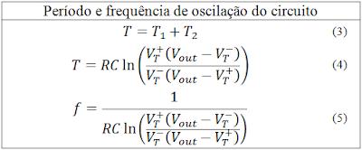 Formula do oscilador RC