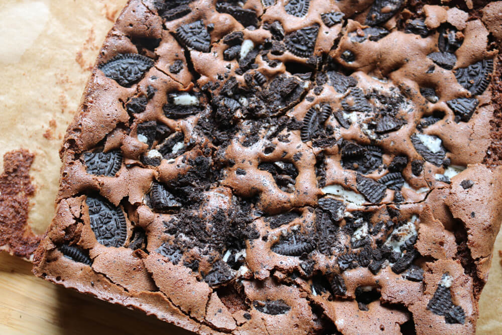 Oreo Fudge Brownies Recipe | Hungry Little Bear