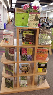 Display of Gardening Books at Davis Library