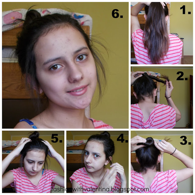 fashion with valentina,valentina batrac,fwv blog,How To:1 Minute Messy Bun,how to make a messy bun,easy messy bun,