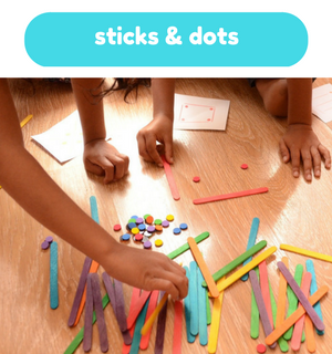 Printable Games by Practical Mom: Sticks & Dots