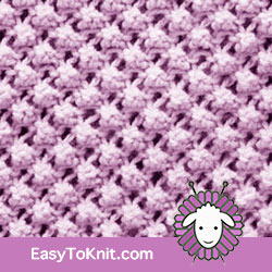 Textured Knitting 11: Trinity | Easy to knit #knittingstitches #knittingpattern