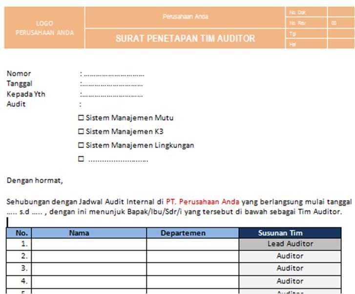 contoh surat balasan hasil audit surat 27