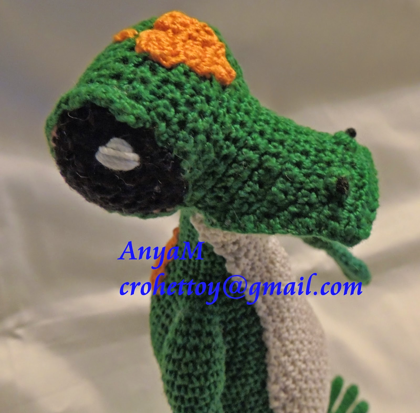 AnyaMtoys: GECKO HAND MADE CROCHET 10\