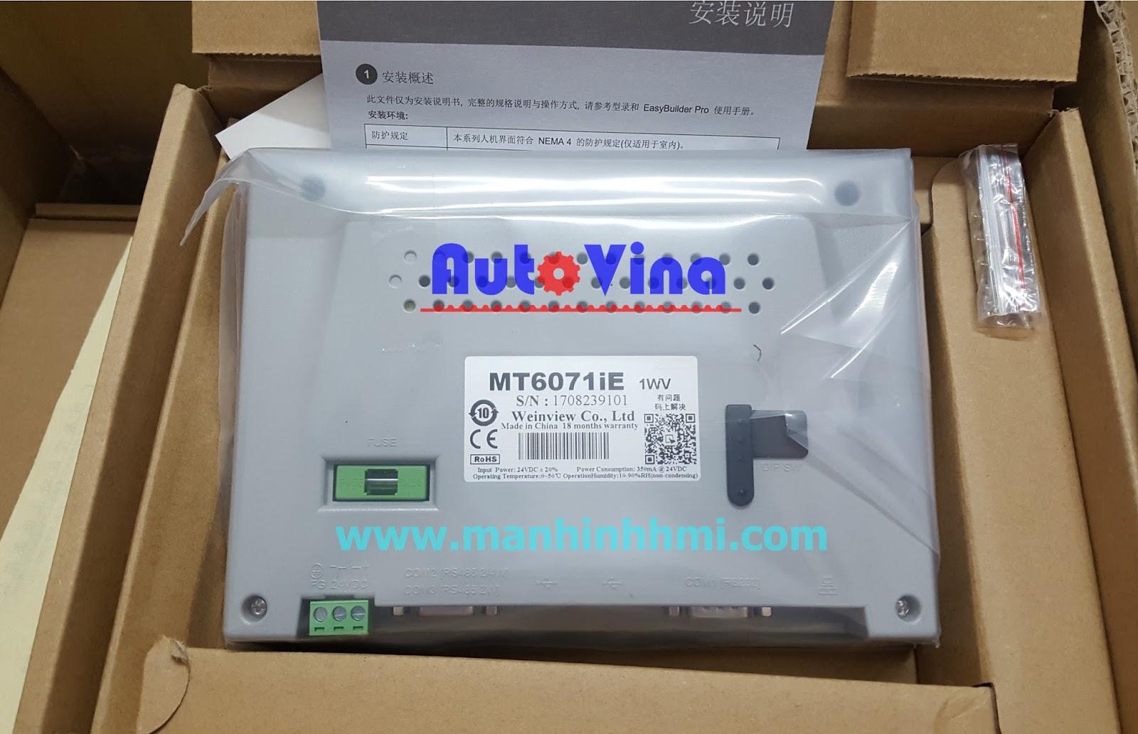 Đại lý bán màn hình cảm ứng HMI MT6071iE, hàng luôn có sẵn trong kho công ty Auto Vina