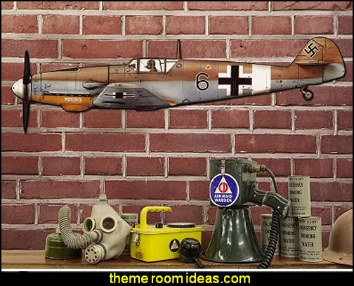 Trop Gustav Fighter Plane Sign Large Cut Out   Army Theme bedrooms - Army Room Decor - Military bedrooms camouflage decorating - Marines decor boys army rooms - camo themed rooms - Military Soldier - Uncle Sam Military home decor - Airforce Rooms - military aircraft bedroom decorating ideas - boys army bedroom ideas - Navy themed decorating