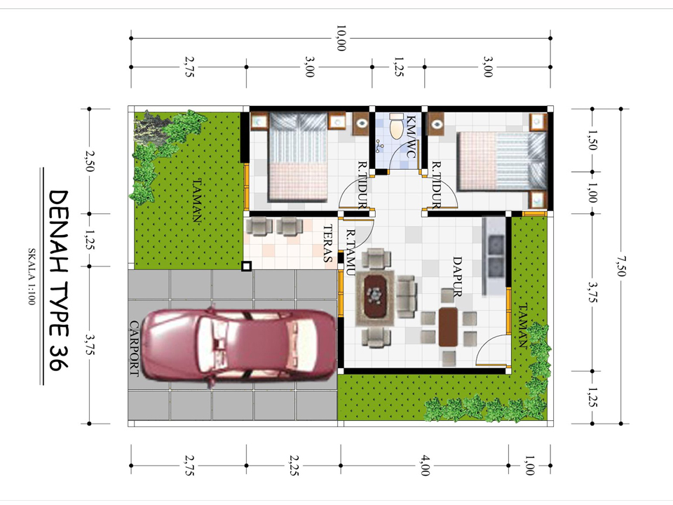 Denah Rumah Type  36  Kumpulan Foto Rumah