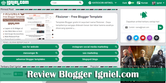 Review Blogger Indonesia Terbaik Igniel.com