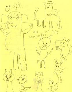 Mo Willems Doodles I like you books I like them because