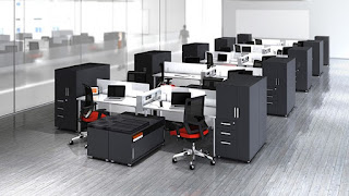 Open Concept Office Furniture Layout