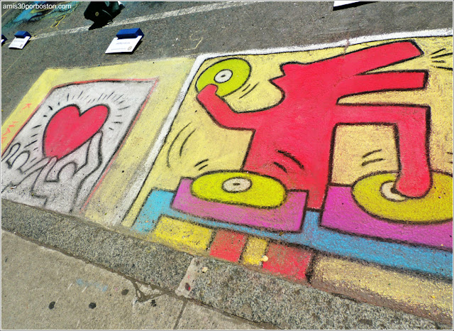 Keith Haring Chalk on the Walk en la MayFair 2016