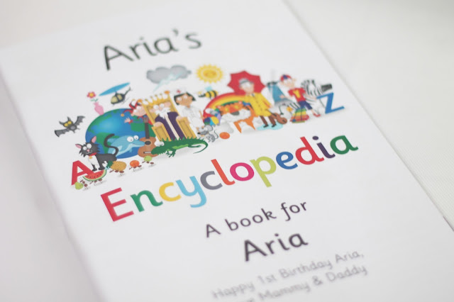 colourful personalised children's encyclopedia for Aria