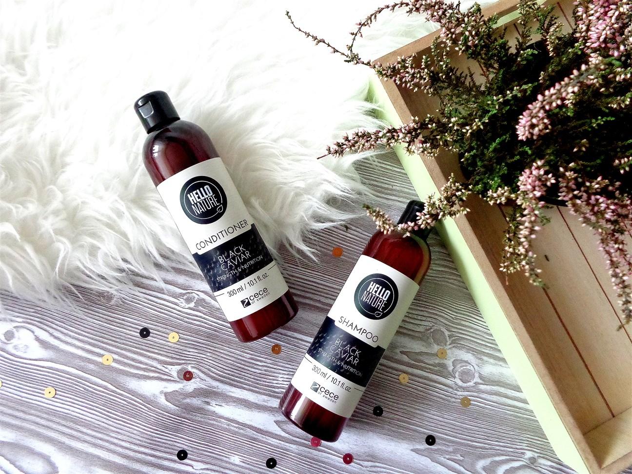 zdjęcie szamponu i odżywki Cece Sweden Hello Nature Black Caviar