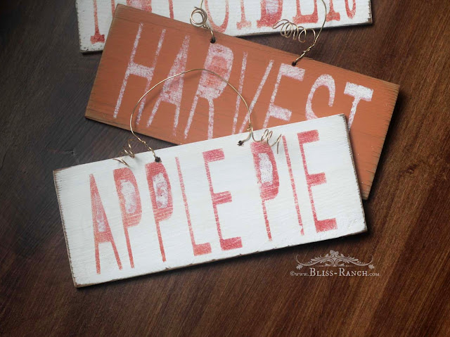 Fall Mini Signs Apple Pie Bliss-Ranch.com