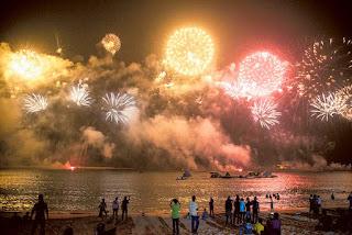 Eid Al Adha fireworks in dubai,uae