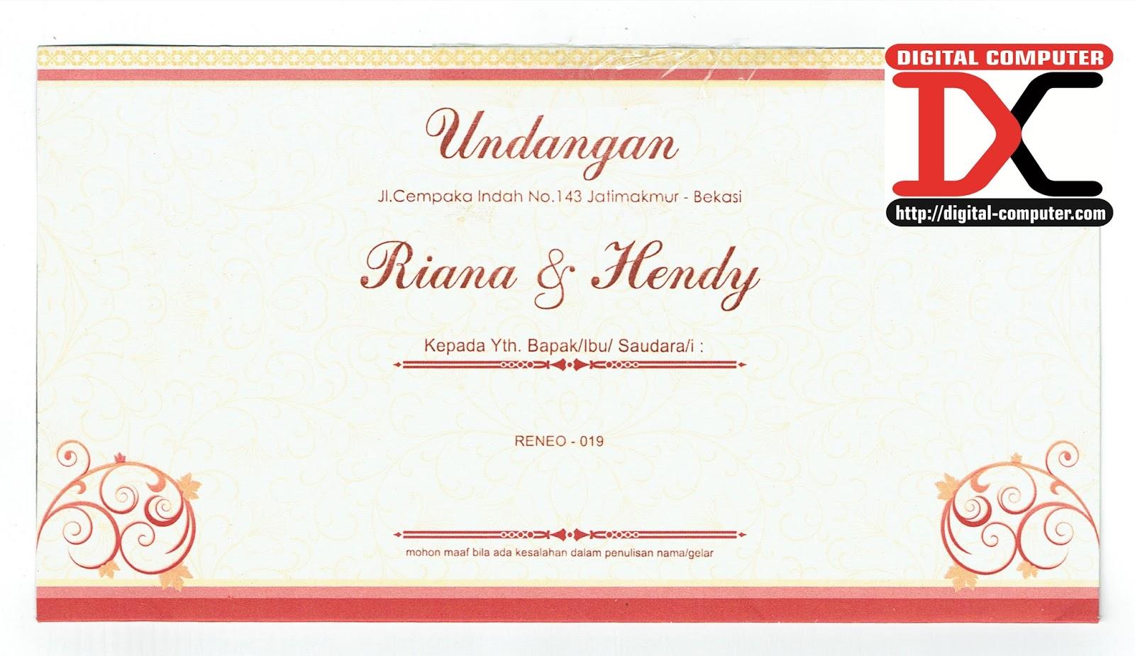 undangan pernikahan harga 2800 rupiah