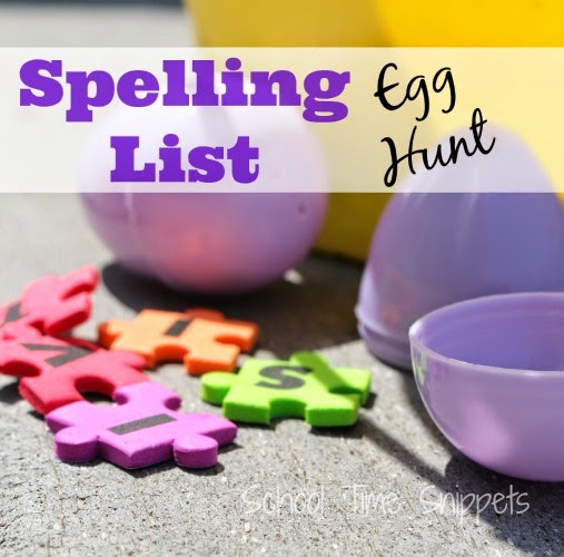 Spelling List Easter Egg Hunt