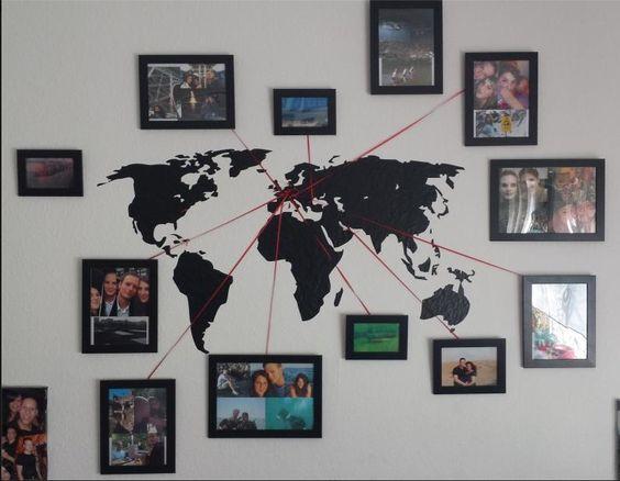 viajar recuerdos fotografías decoración hogar