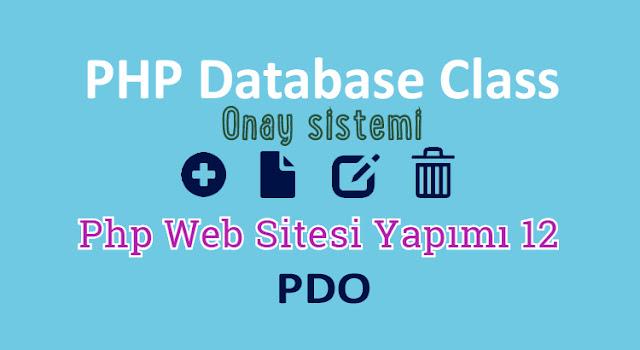 php ve pdo ile web site yapımı 12