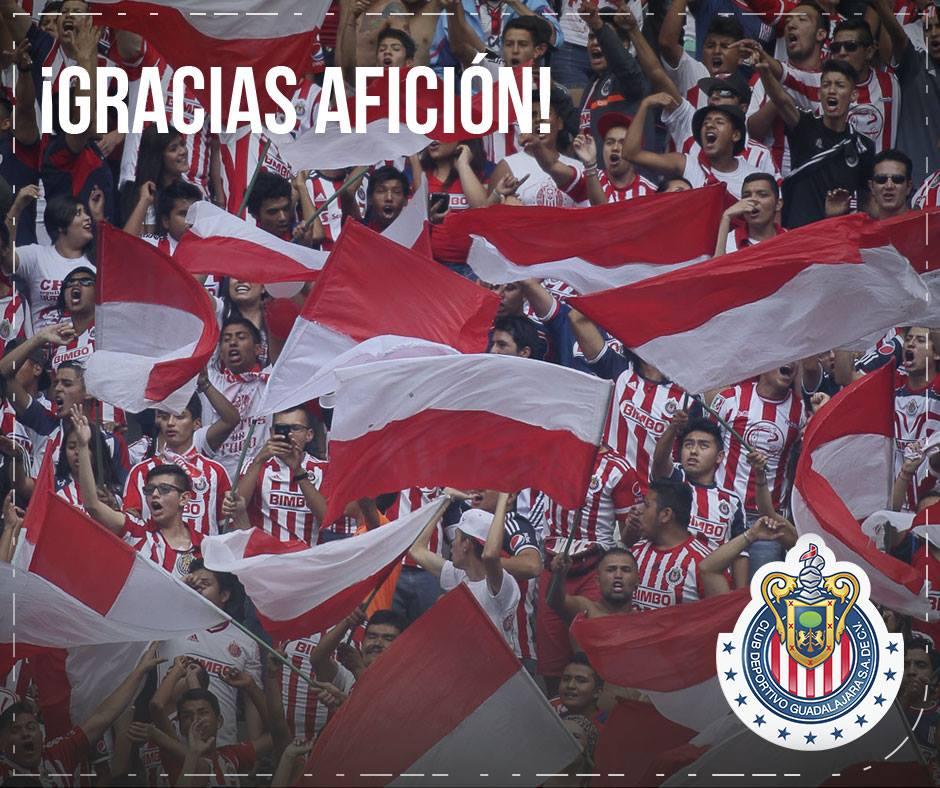 Chivas agradeció a la afición.