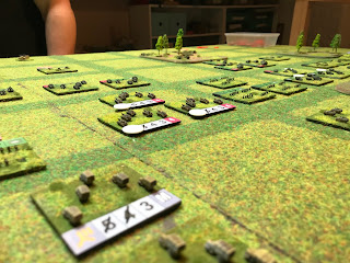 German tanks attack across a wide front with infantry support