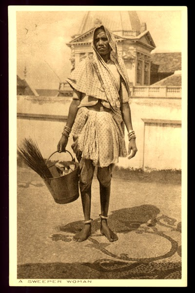 Vintage Photograph of a Sweeper Woman - Date Unknown
