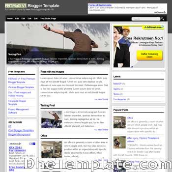 FBTMaG V1 blogger template. 3 column footer blogspot template
