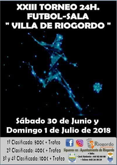 "Torneo 24 horas Fútbol Sala ""Villa de Riogordo"" 2018"