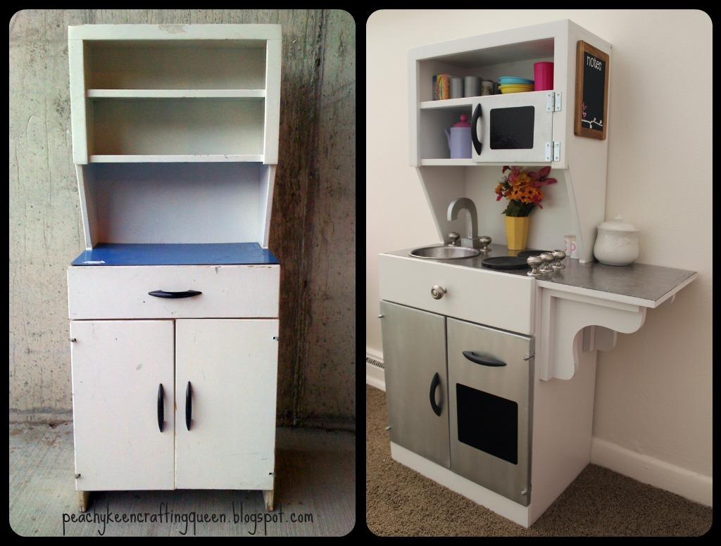 Peachy Keen Crafting Queens Diy Children S Play Kitchen
