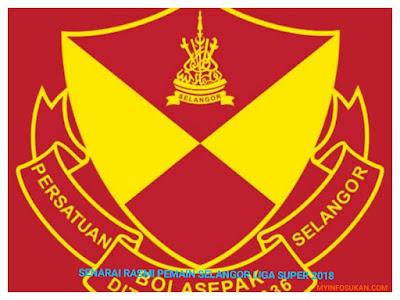 Senarai Rasmi Pemain Selangor Liga Super 2018