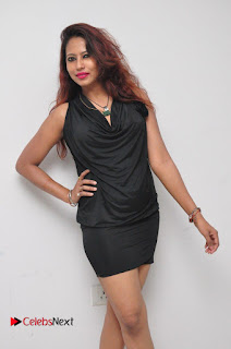 Model Sonia Pictures in Black Dress at Yes Mart Event  0016