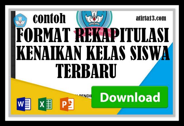 Download Contoh Format Rekapitulasi Kenaikan Kelas Siswa Terbaru