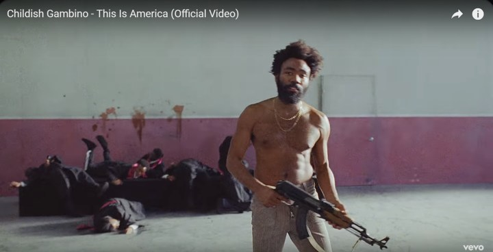 Childish Gambino's This is America - Easter egg - This shooting sequence is a direct callback to the 2015 Charleston church massacre where 21 year old white supremacist Dylann Storm Roof killed nine people in church, hoping to start a race war as he confessed later.