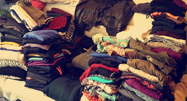 Sorting out clothes - can't complain that I don't have enough clothing!