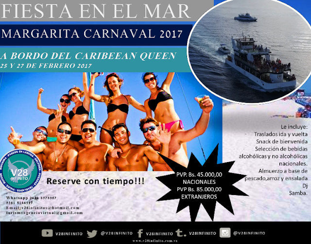 IMAGEN fiesta con caribbean queen margarita carnaval 2017