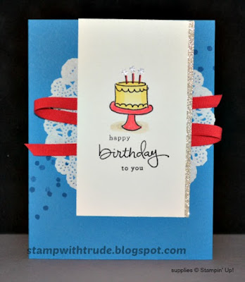 Endless Birthday Wishes, Stampin' Up!, Stamp with Trude, Birthday card, watercolor technique, aqua painter