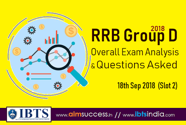 RRB Group D Exam Analysis 18th Sep 2018 & Questions Asked (Slot 2)