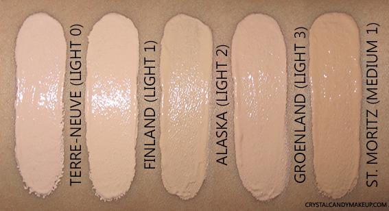 NARS Velvet Matte Skin Tint Review Swatches Terre-Neuve Finland Alaska Groenland St. Moritz
