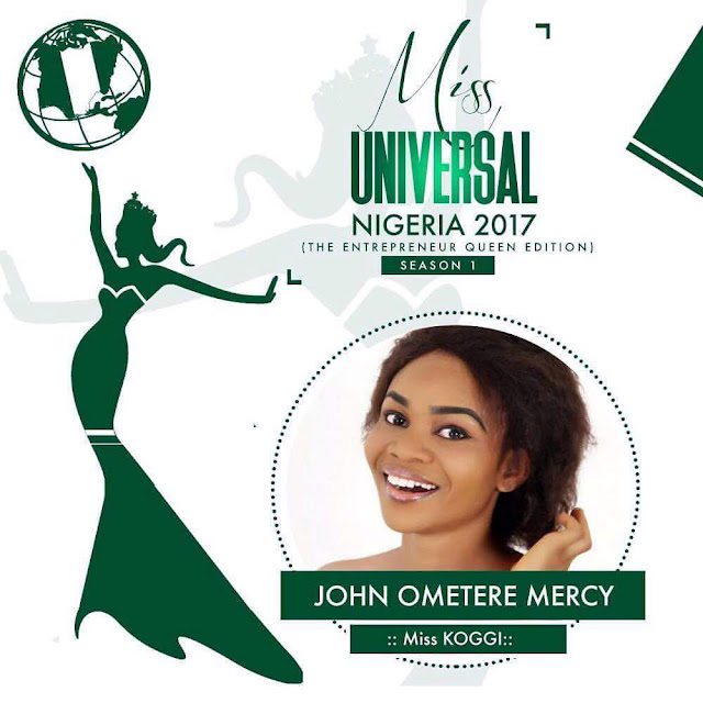 "VOTE ""JOHN OMETERE MERCY"" FOR THE NEXT MISS UNIVERSAL NIGERIA 2017"