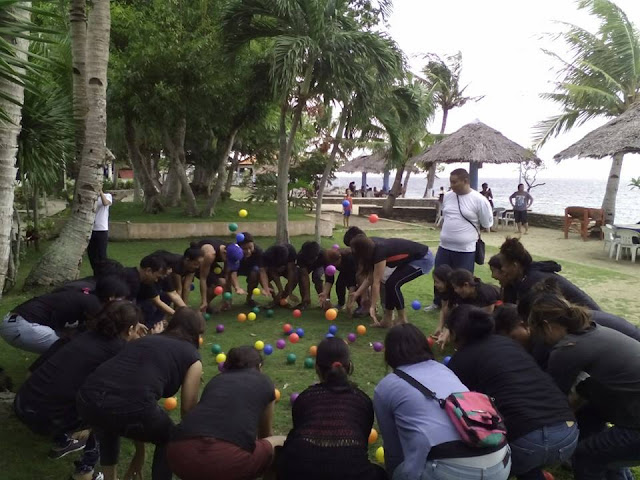 human pinball activity with the Cebu Teambuilding Facilitators Network
